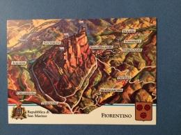 SAN MARINO CASTELLI E UFFICI  - FIORENTINO CARTOLINA ED ANNULLO SPECIALE - San Marino