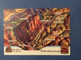 SAN MARINO CASTELLI E UFFICI  -  BORGO MAGGIORE - CARTOLINA ED ANNULLO SPECIALE - San Marino