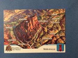 SAN MARINO CASTELLI E UFFICI  -  SERRAVALLE -  CARTOLINA ED ANNULLO SPECIALE - San Marino