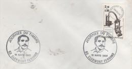 63  CLERMONT FERRAND  Journ�e du timbre 1985  Centenaire de la machine Daguin 1884/1984  16/03/85