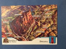 SAN MARINO CASTELLI E UFFICI  -  DOGANA. -  -  CARTOLINA ED ANNULLO SPECIALE - San Marino