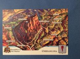 SAN MARINO CASTELLI E UFFICI  -  CHIESANUOVA. -  CARTOLINA ED ANNULLO SPECIALE - San Marino