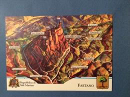 SAN MARINO CASTELLI E UFFICI  -  FAETANO. -   CARTOLINA ED ANNULLO SPECIALE - San Marino