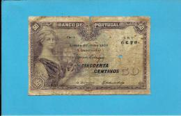 PORTUGAL - 50 Centavos ( $50 ) - 25/06/1920 - Pick 112b - Chapa 1 - Mulher C/ Barco - 2 Scans - Portugal