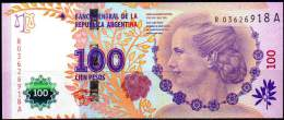 "ARGENTINA 2012 - REPLACEMENT NOTE Of 100 PESOS EVA PERON, SERIES ""A"", UNC."