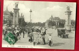 XBQ-04  Paris, Avenue Nicolas 2, Cachet Frontal, Tres ANIME. Cachet Frontal 1908 - Arrondissement: 08