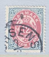 DENMARK  29 C      Perf.  14 X  13 1/2  (o)   INVERT.  FRAME - 1864-04 (Christian IX)