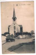 Woluwe-Saint-Pierre - Stockel - L'Eglise, Automobile, Cliché F. Walschaerts, Bruxelles - 2 Scans - Woluwe-St-Pierre - St-Pieters-Woluwe