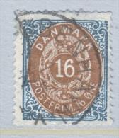 DENMARK  30 B      Perf.  14 X  13 1/2  (o)  INVERT.  FRAME - 1864-04 (Christian IX)