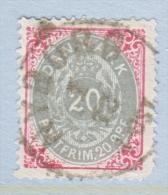 DENMARK  31  Faults      Perf.  14 X  13 1/2  (o)  ON THIN  PAPER - 1864-04 (Christian IX)