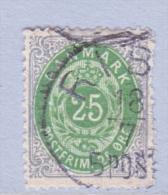 DENMARK  32     Perf.  14 X  13 1/2  (o)    ON THIN  PAPER - 1864-04 (Christian IX)