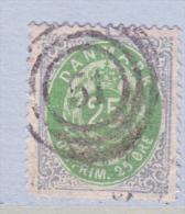 DENMARK  32     Perf.  14 X  13 1/2  (o) - 1864-04 (Christian IX)