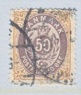 DENMARK  33 B     Perf.  14 X  13 1/2  (o)  INVERT.  FRAME - 1864-04 (Christian IX)