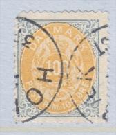 DENMARK  34     Perf.  14 X  13 1/2  (o)  ON  THIN  PAPER - 1864-04 (Christian IX)