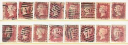 GREAT  BRITAIN  PENNY  REDS  LOT 1  (o) - 1840-1901 (Victoria)