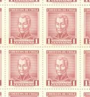 GENERAL FRANCISCO A. PINTO - HISTORIA DE CHILE CHILI MNH TBE DENTADO 13,5 X 14 CADRE - Chili
