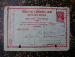 Turkiye Cumhuriyeti-Republique Turque-Posta Karti-Balkan Antantina...DAMAGE!-1941  (3094) - Turkey