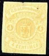 1859  Armoiries 4 Cent. Neuf Sans Gomme  Petit Aminci En Haut, Au Centre - 1859-1880 Coat Of Arms
