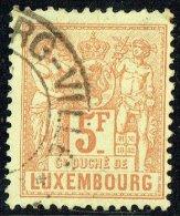 1882  Allégorie  5 Fr  Brun Clair  Oblitéré - 1882 Allégorie