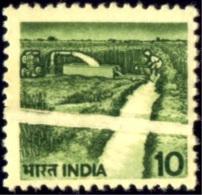 AGRICULTURE-IRRIGATION-MODERN INDIAN ERROR-PRE PRINTING FOLD-SCARCE-MNH-E7-25E - Landwirtschaft