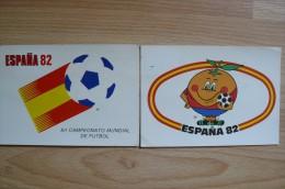 CP - 2 Cartes Officielles De La Coupe Du Monde De Football En Espagne 1982 - Soccer