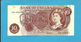 GREAT BRITAIN - 10 SHILLINGS - ND ( 1962 - 1966 )- P 373.b - Sign. J. Q. Hollom - BANK OF ENGLAND - 1952-… : Elizabeth II