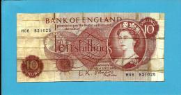 GREAT BRITAIN - 10 SHILLINGS - ND ( 1960 - 1961 )- P 373.a - Sign. L. K. O'Brien - BANK OF ENGLAND - 1952-… : Elizabeth II