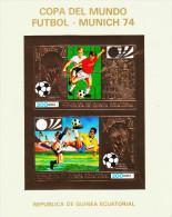 Guinée Equatoriale Bf Non Répertorié Y&T  ( Michel Bf A122 ) Coupe Du Monde De Football En Allemagne ( Or ) - Football
