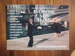 Everyone Says I Love You Movie Film Carte Postale - Unclassified