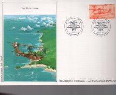Enveloppe Premier 1er Jour FDC First Day Cover Grand Format Poste Aérienne Les Hydravions Cams 53 Marseille - FDC