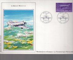 Enveloppe Premier 1er Jour FDC First Day Cover Grand Format Poste Aérienne Breguet Wibault 283 Le Bourget - FDC