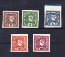 Zeitungsmarken Mi. N. 212 - 216 postfrisch
