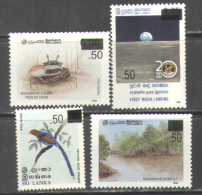 M2389 Space Apollo 11 Fauna Crabs Birds 1986 Sri Lanka 4v Set Optd. MNH ** 10ME - Asia