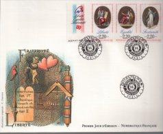 Enveloppe Premier 1er Jour FDC First Day Cover Grand Format Bicentenaire Révolution Française Liberté Egalité - FDC