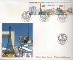Enveloppe Premier 1er Jour FDC First Day Cover Grand Format Paris 1989 - FDC