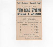 Lugo Ravenna Societa' Cacciatori Campanile Tiro Allo Storno 1946 - Ravenna