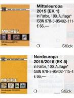 MICHEL Part 1+5 Mddle- /north-Europe Catalogue 2015/2016 New 132€ A CH Genf Wien CZ CSR HU DK Eesti Soumi FI Latvia NO S - Télécartes