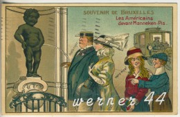 Brüssel V. 1914  Les Americains Devat Manneken Pis  (45606) - Non Classés