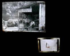 Ancienne Plaque Photographie En Métal Carte Postale Whisky Jack Daniel´s Old Advertisement Tin Metal Postcard - Publicité