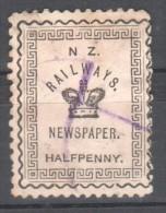 New Zealand Railways HalfPenny.Trains/Railways/Eisenbahnmarken - Treni