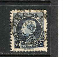BELGIQUE - Y&T N° 211° - Albert 1er - Perfin - Perforé - 1909-34