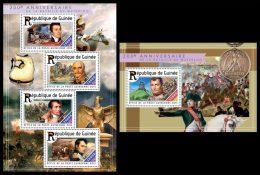 GUINEA 2015 - Waterloo, Napoleon. M/S + S/S. Official Issue - Napoleon