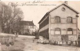 Cpa 25 Vandoncourt Ecole Enfantine Et Mairie Rarissime Grosse Animation A Voir - Other Municipalities