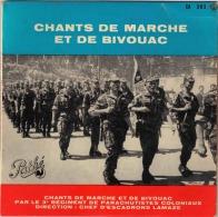 LOT DE 2 DISQUE 45' - CHANTS DE MARCHE..3e REGIMENT DE PARA & DU 1er R.E.P