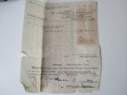 China 1949 Receipt. 188111 Gold Yuan. Dr. To Paulsen & Bayes-Davy. Shanghai.Steuermarken / Revenues. Int. Refugee Org.