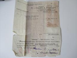 China 1949 Receipt. 188111 Gold Yuan. Dr. To Paulsen & Bayes-Davy. Shanghai.Steuermarken / Revenues. Int. Refugee Org. - 1949 - ... République Populaire