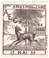 Ex Libris IIe Après Midi Du Livre 17 Mai 1935 (PPP227) - Ex-libris