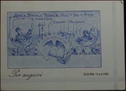 S. GIOVANNI VALDARNO Scuola Statale Tecnica E Avviamento Industriale Mista G. Marconi - VIAGGIATA Nel 1950 - Arezzo