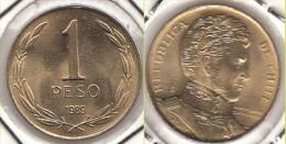 CILE 1 Peso 1989 KM#216.2 - Used - Cile