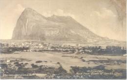 GIBRALTAR ROCK FROM QUEEN OF SPAIN'S CHAIN CPA 1900s SOLD AS IS RARE WRITTEN IN PENCIL ESCRITA EN LAPIZ - Gibraltar